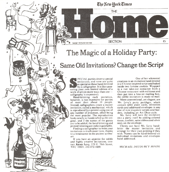 NY Times Home Section