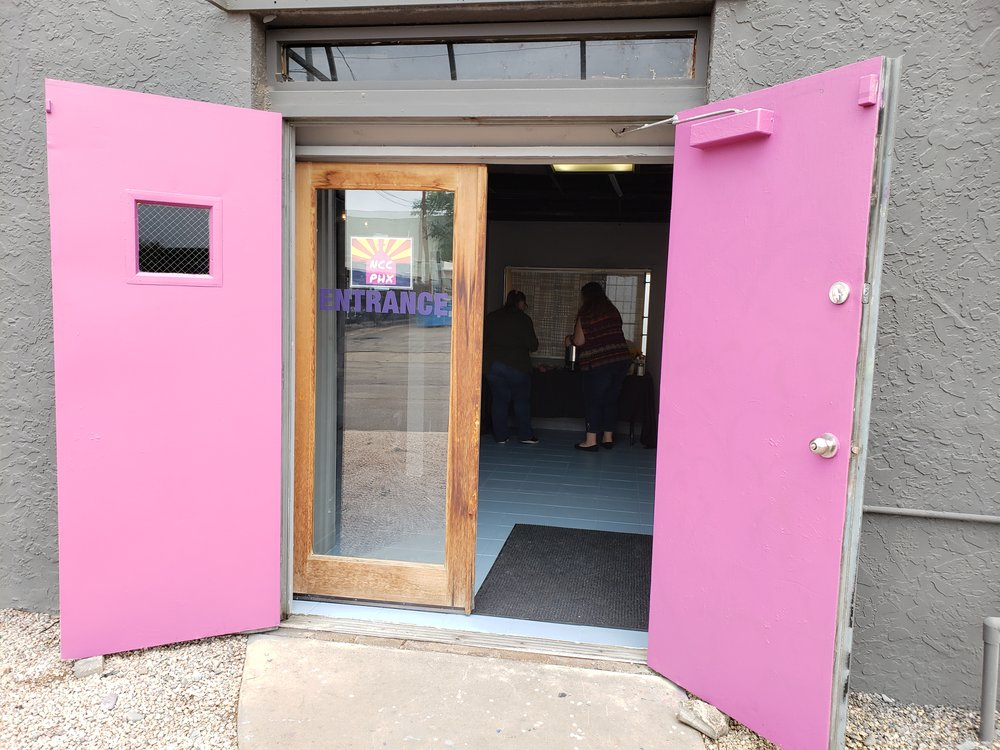 Just look for the Pink Doors.