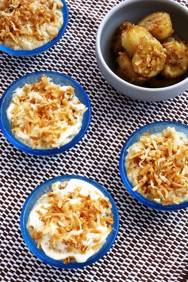 Coconut Rice Pudding, Fried Banana