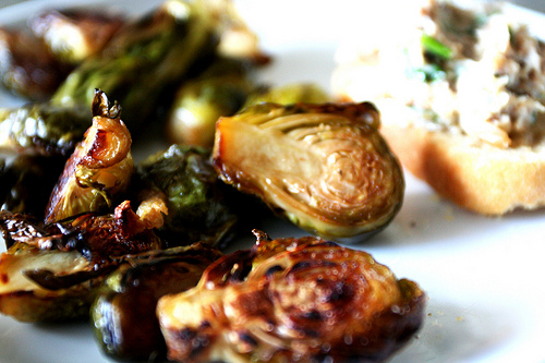 roasted, brussel sprouts, vegetables