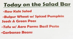Salad Bar Menu