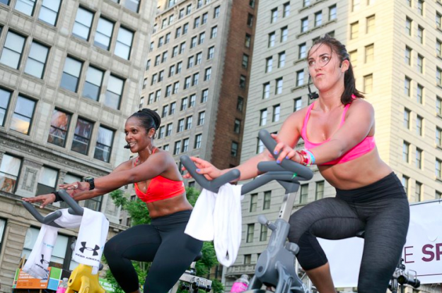 sports bra challenge, union square, health
