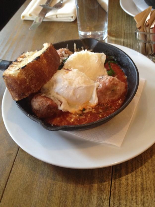 LIDO, Harlem, brunch, veal meatballs,