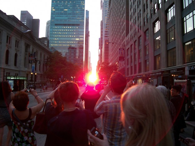 sunset, manhattanhenge, sun, new york city