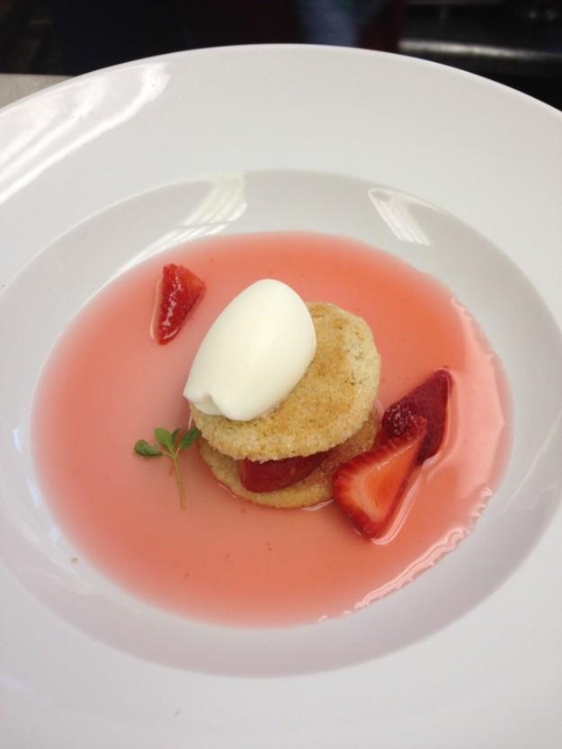 Dessert showcased the fresh flavors of summer