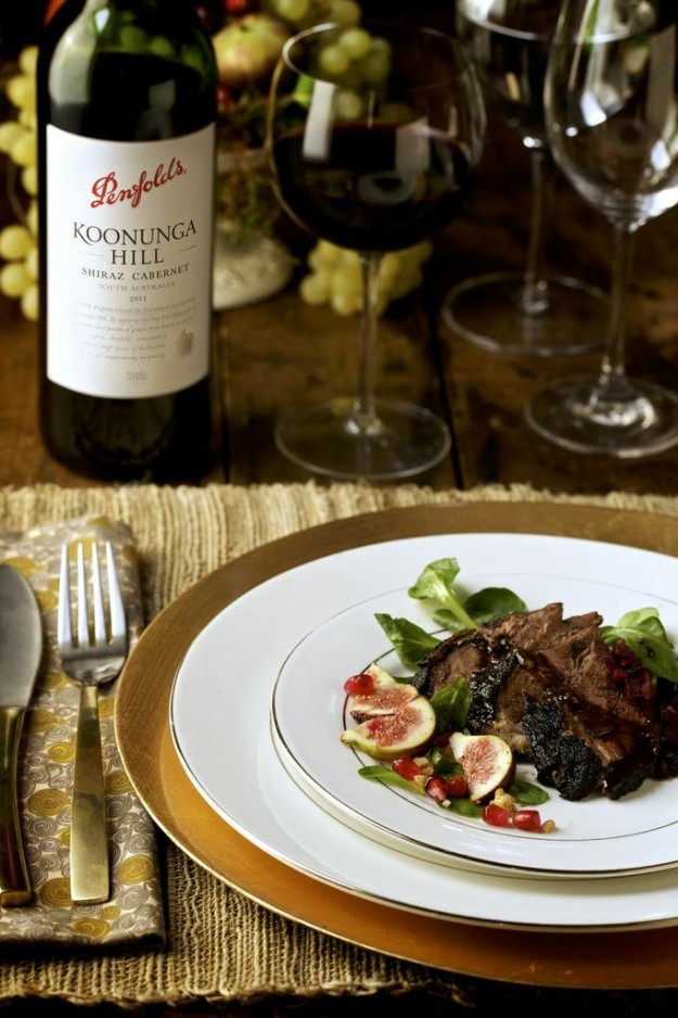 Ethiopian-Spiced Duck Breast - Penfolds Koonunga Hill Shiraz Cabernet