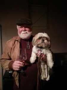 Don and his dog, Mr. Fezziwig (Photo from Don Pullum)