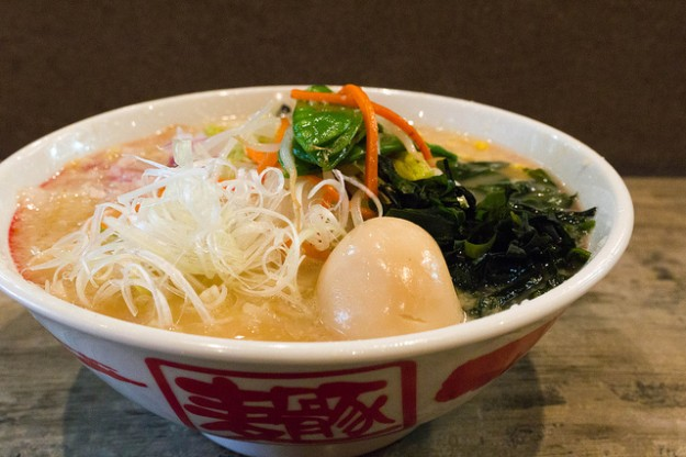 This soothing vegetarian ramen is a great way to eat your vegetables. (Photo:   Renée s. Suen  )