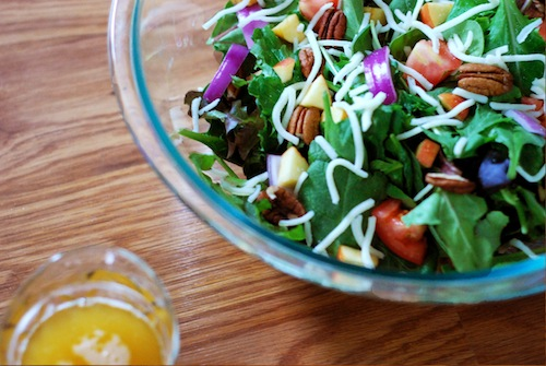 Mixed greens with argan oil apple vinaigrette