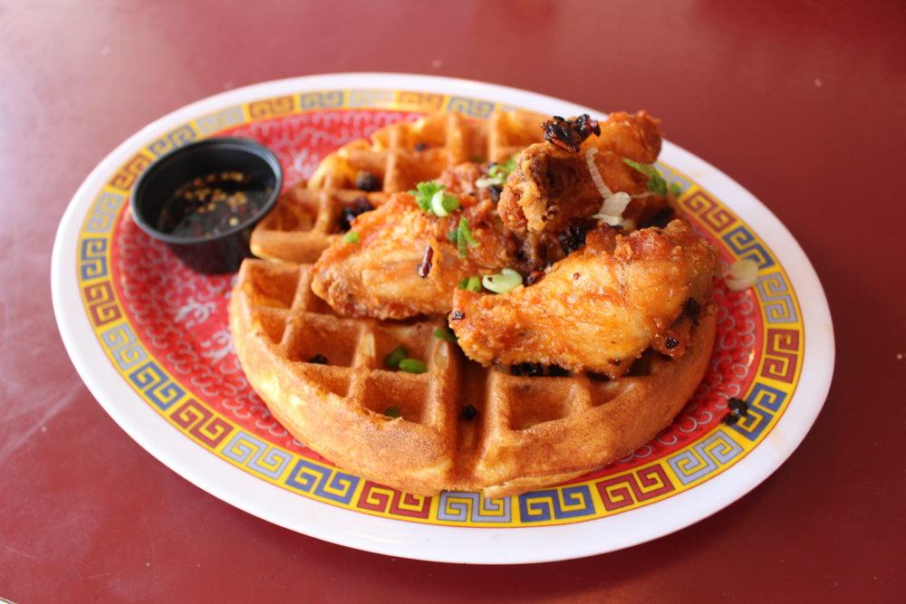 Marcus Samuelsson Cornmeal Waffles at Streetbird