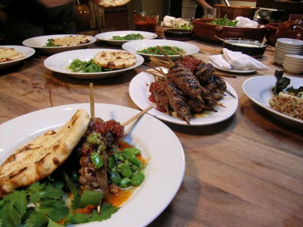 Lamb brisket kebabs
