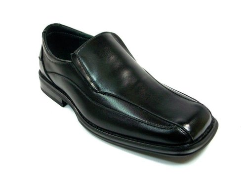 An example of a shoe style to avoid. Note the wide, bulky toe.