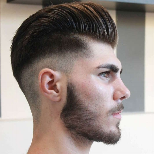 High Fade: A form of taper taking the sides down to the skin