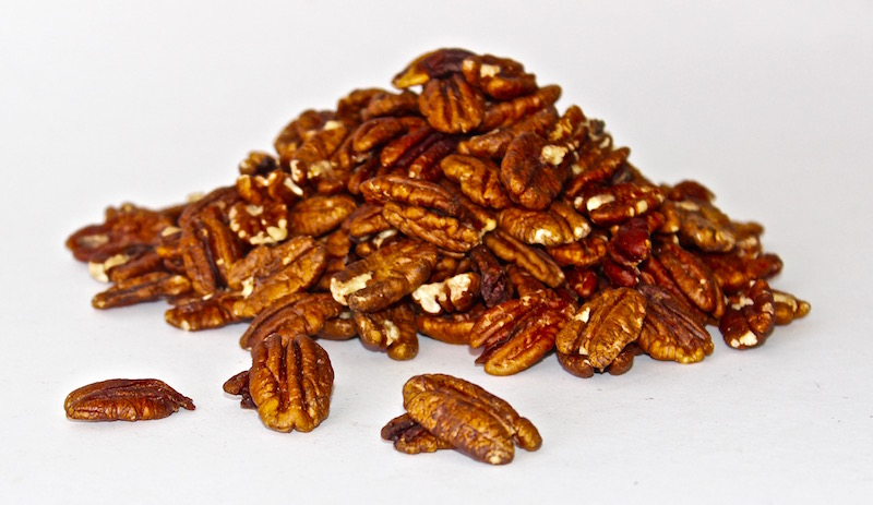 Raw shelled pecans from Gourmet Nuts & Dried Fruit, LLC.