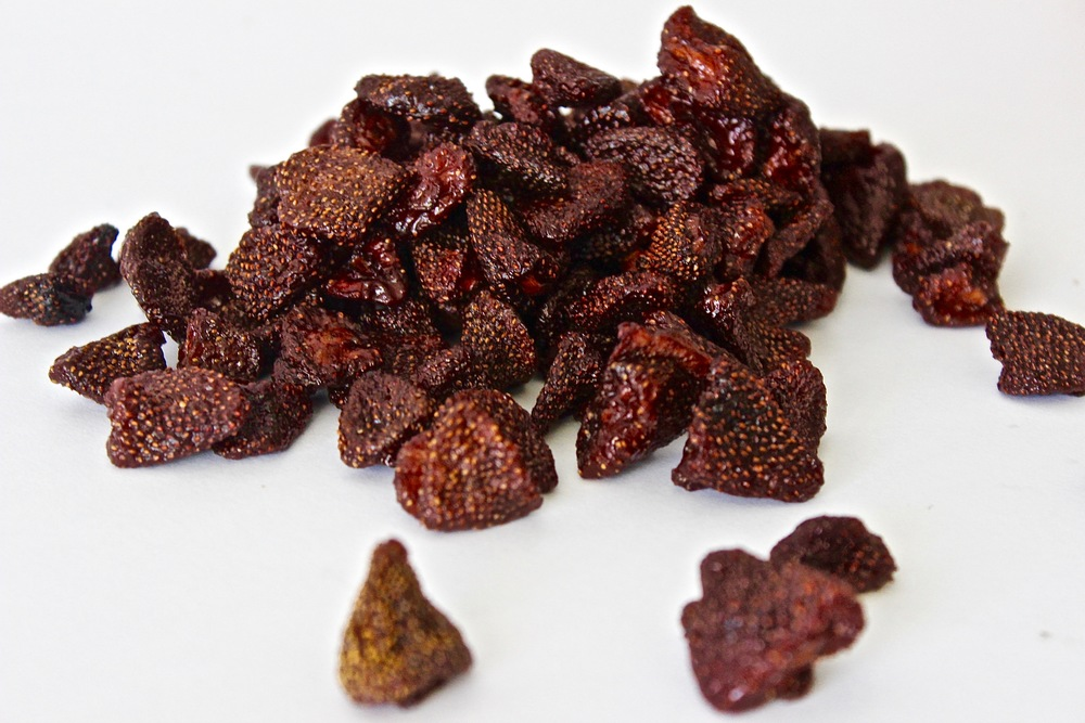Dried whole strawberries from Gourmet Nuts & Fruit, LLC