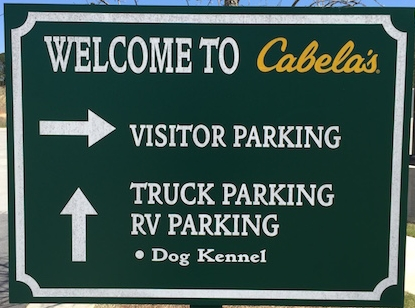 Cabela's Truck Parking Fort Worth, Texas