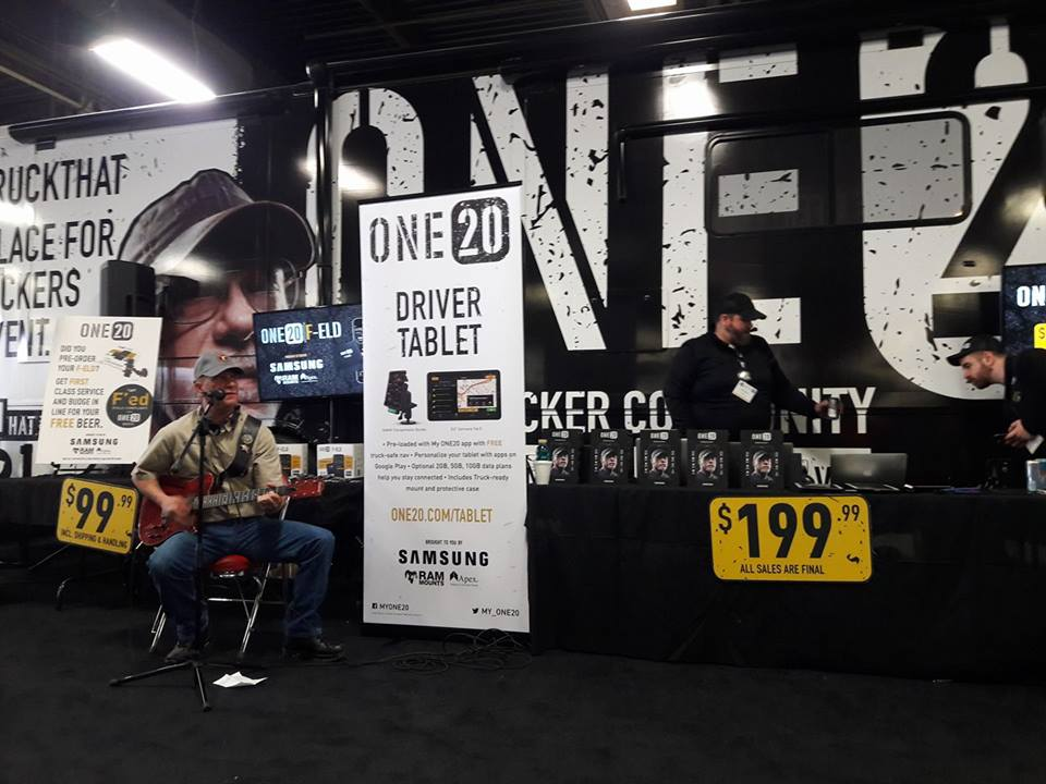 Bill Weaver rocking his tunes at the One20 booth at MATS2017!