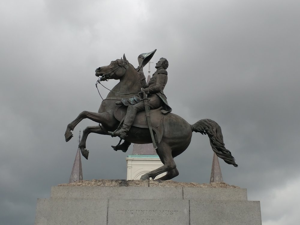 Monument at Jackson Square, New Orleans, Louisiana