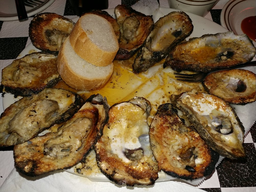 Charbroiled Oysters from Acme Oyster House in New Orleans