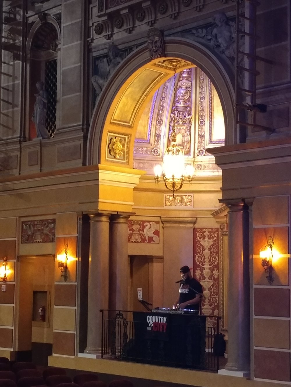 DJ Ron during morning sound check in New Orleans