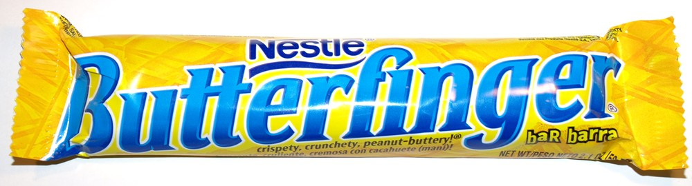 The only good kind of butterfingers, the most yummy candy bar ever!