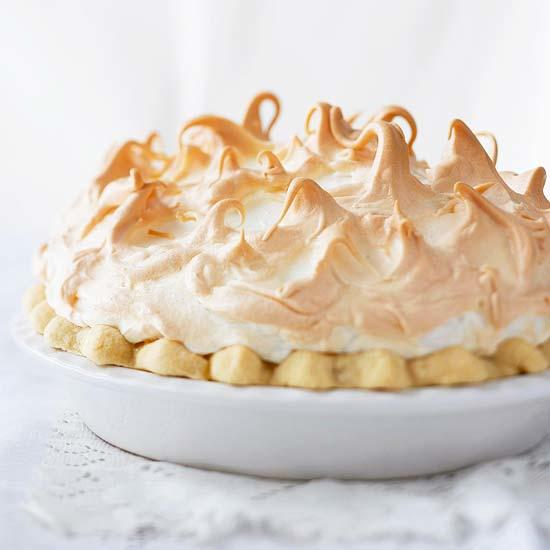 Beautiful Key Lime Pie with a baked meringue in a regular pie crust.