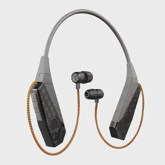 Neckband-style bluetooth headset by Tough Tested.