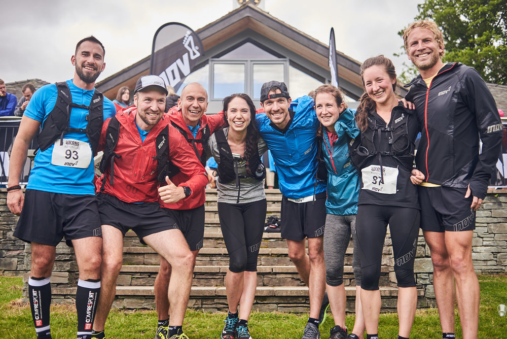 "Team Inov-8 ""Get a Grip"", having no fun at all. Photo credit: James Carnegie"