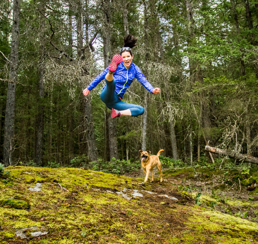Kapow! Badass runner Heather Bretschneider shows off her infectious love of all things trail.