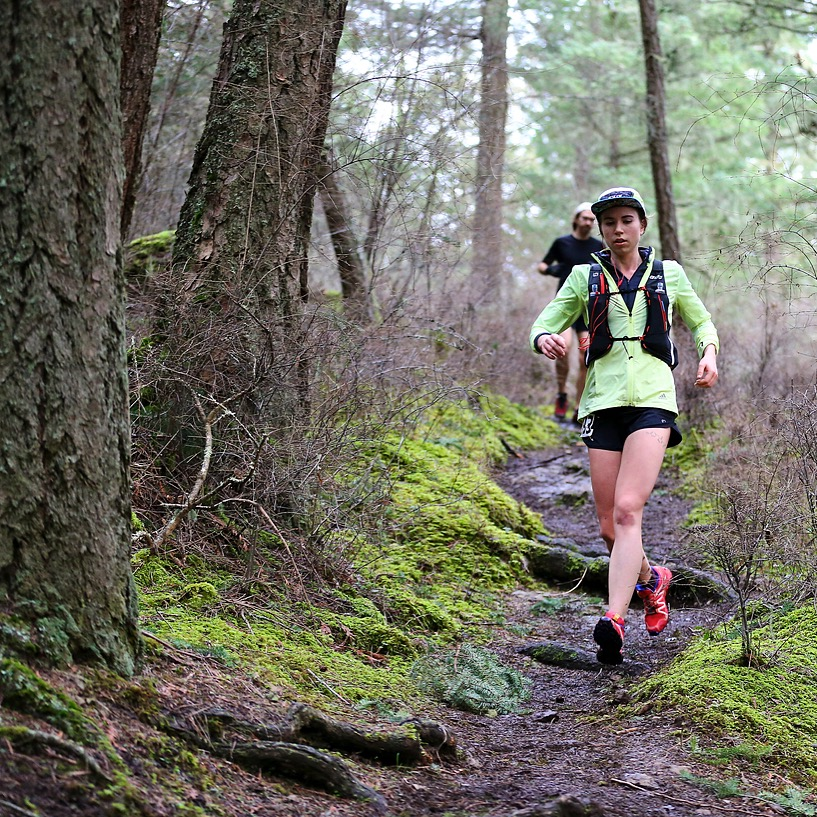 Aww, baby ultrarunner Hilary at Orcas 50km. Photo: Glenn Tachiyama