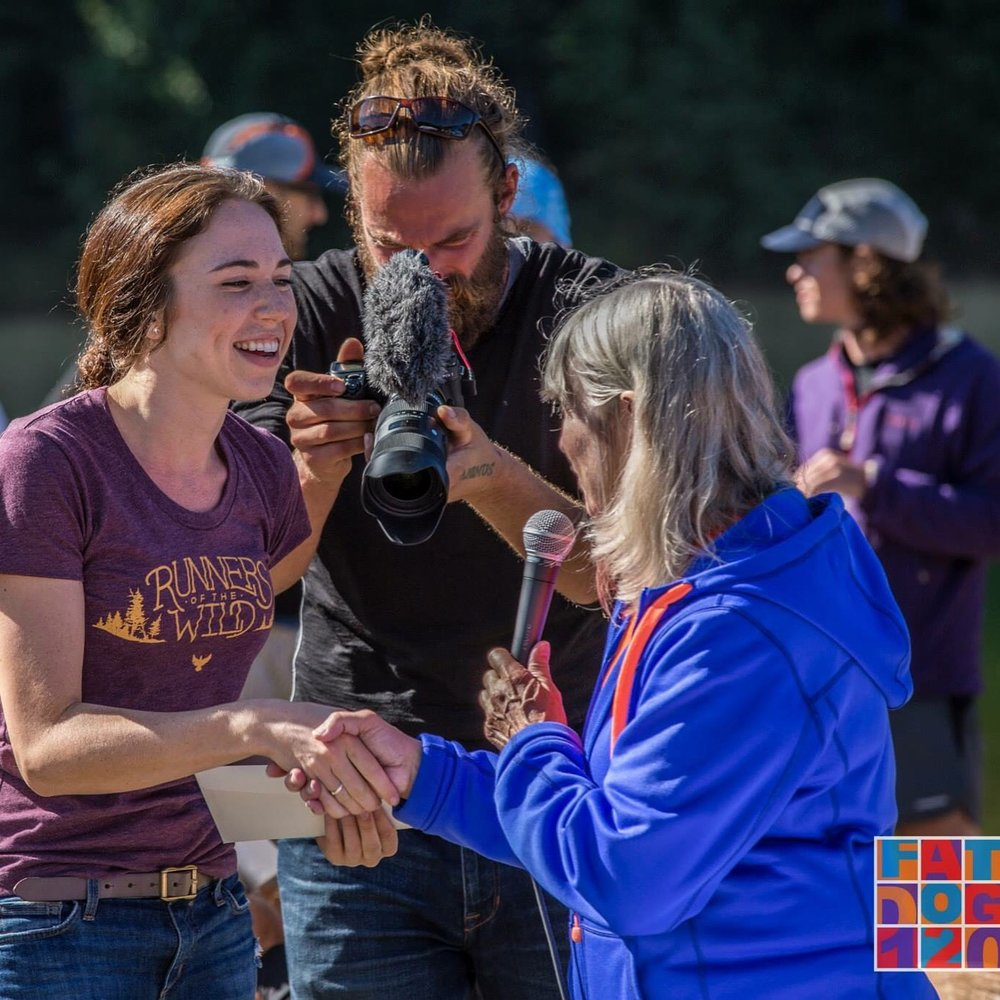 My first winning of a thing! Very exciting. Fat Dog 70mile, 2015. Photo: Brian McCurdy