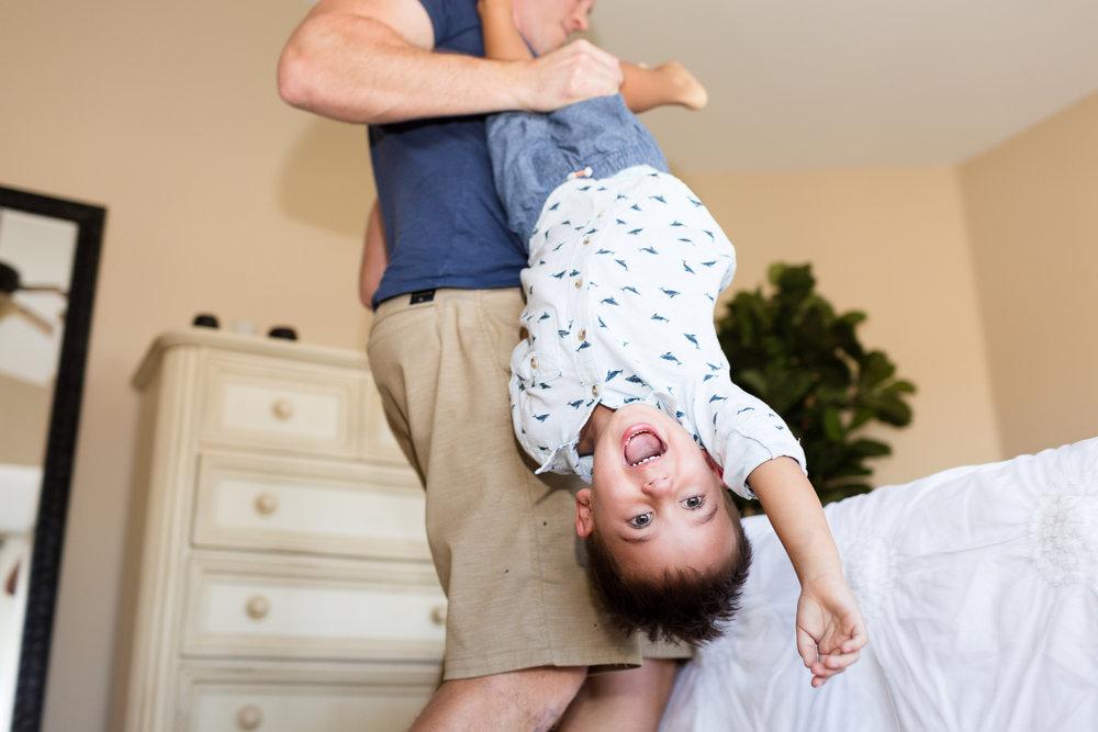 San Diego Lifestyle Newborn Photographer Christine Dammann Photography fun with dad