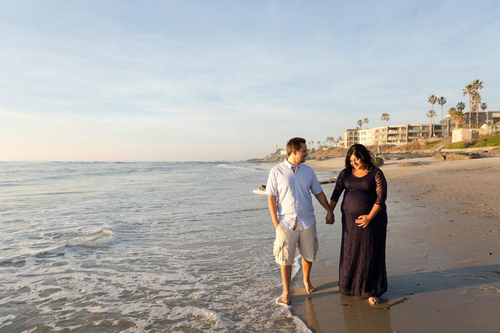 San Diego Maternity Photographer Christine Dammann Photography Couple on beach 2