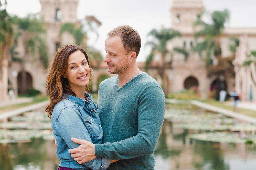 couple photographer san diego balboa park