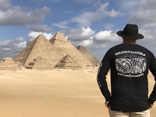 Bumps and Barrels tee on tour . • #corrocean #bumpsandbarrels #egypt  P.C. @rohandotcom
