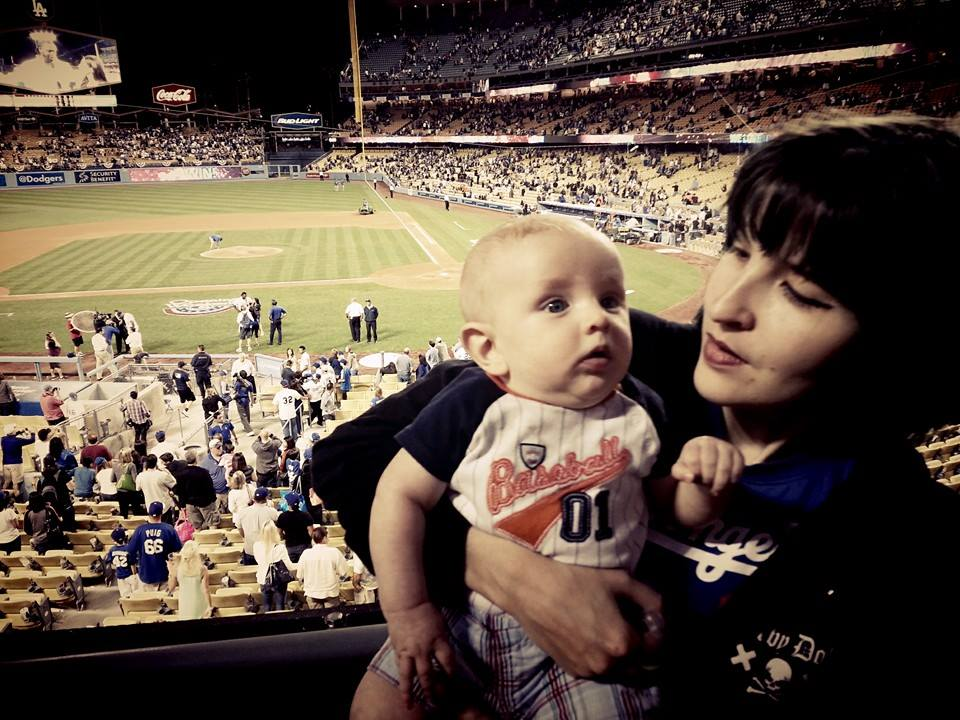 Jonas  first opening day and baseball game- 2014