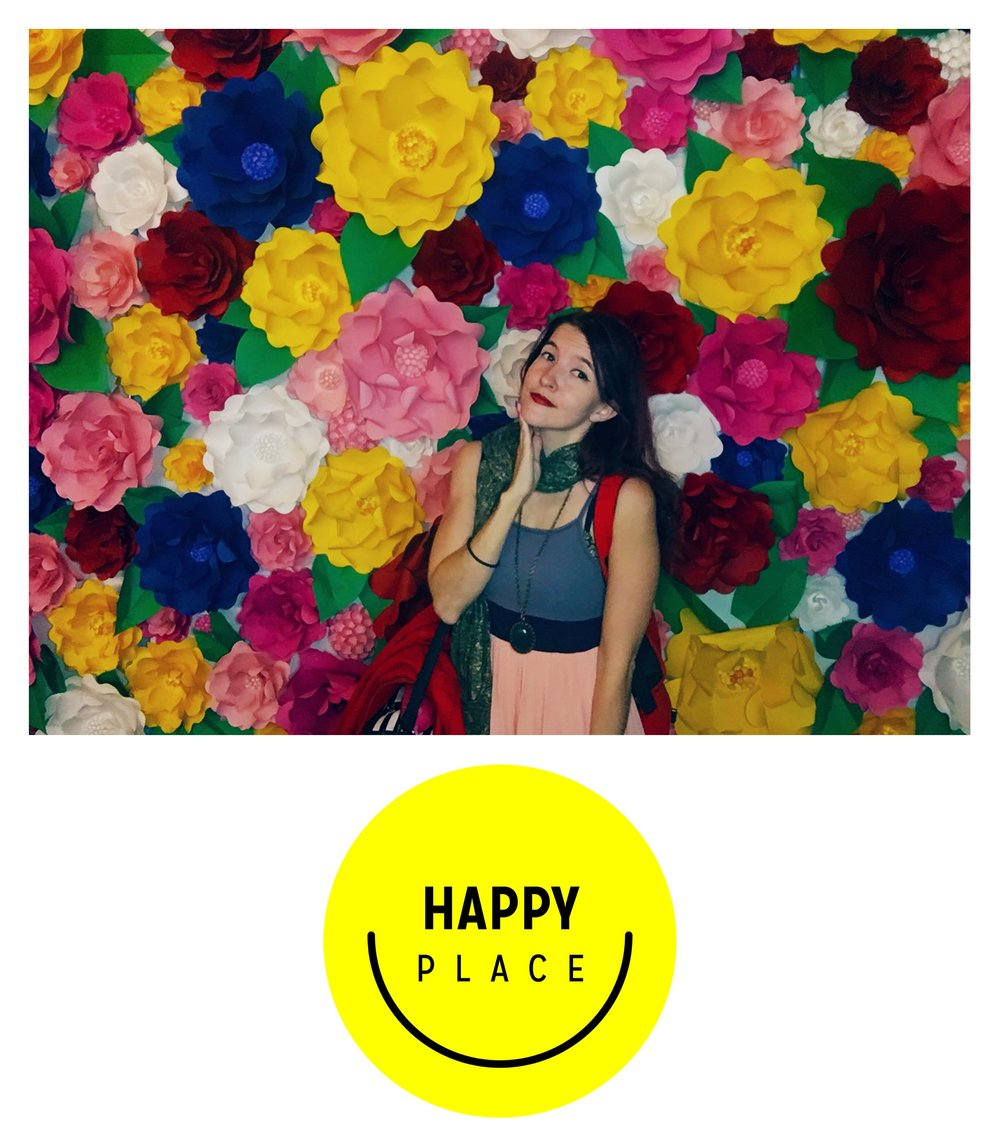 artist writer museforhire Jennifer Stavros peaks out and stops being Ramona Flowers a moment at Happy Place Los Angeles