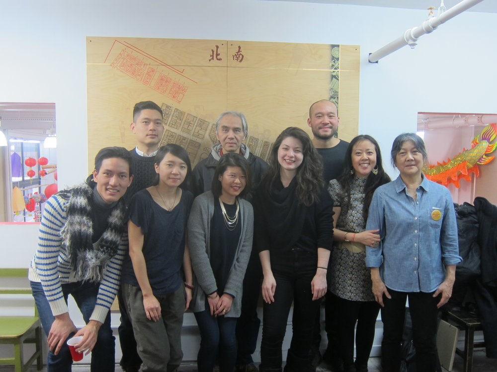 "Members of the Chinatown Art Brigade at the ""Resilience / Resistance"" exhibit at Pearl River Mart. Photo by Betty Yu"