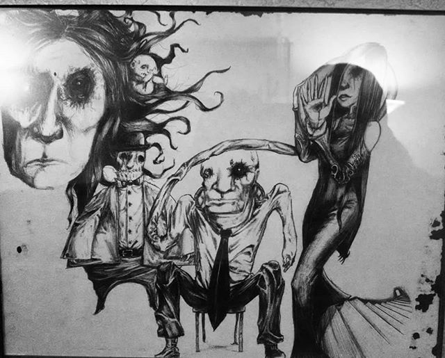 Family Portrait #pen #ink #art #family #creeps #spooky #carpaltunnelfundrome