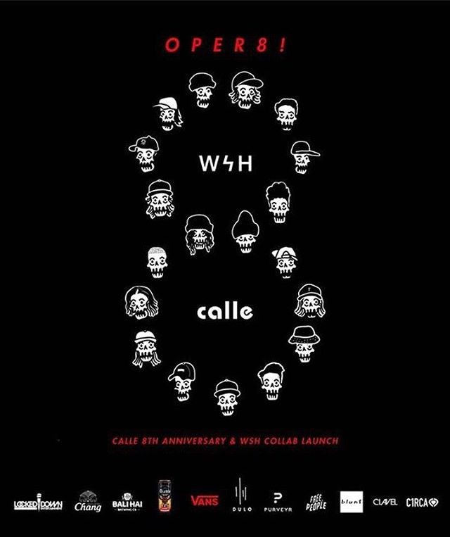 OPER8! a @wsh_13 x @calle_ph collab launch this Saturday (November 4) + Calle's 8th Anniversary @ @dulomnl