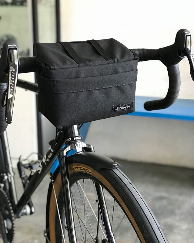 Field testing this new handlebar bag prototype from @officialconqueroutdoorph tomorrow. Watch out for our stories this weekend for an inside scoop!