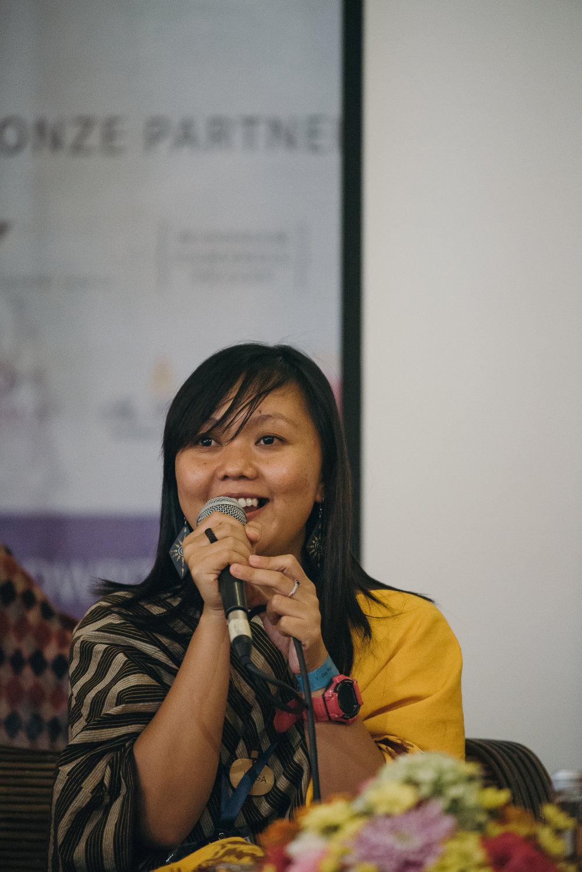 Modesta Wisa, a Dayak Kanayatn activist and founder of Sekolah Adat Samabue.