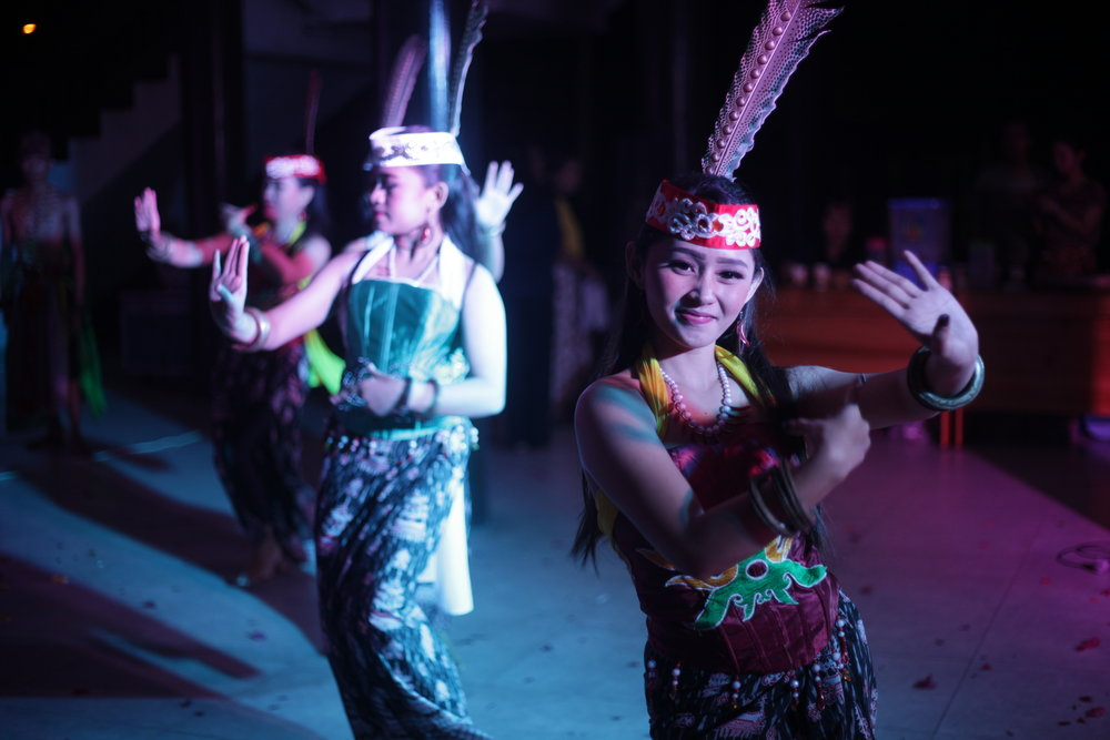 Dayak youth are celebrating World Indigenous People's day by dancing .