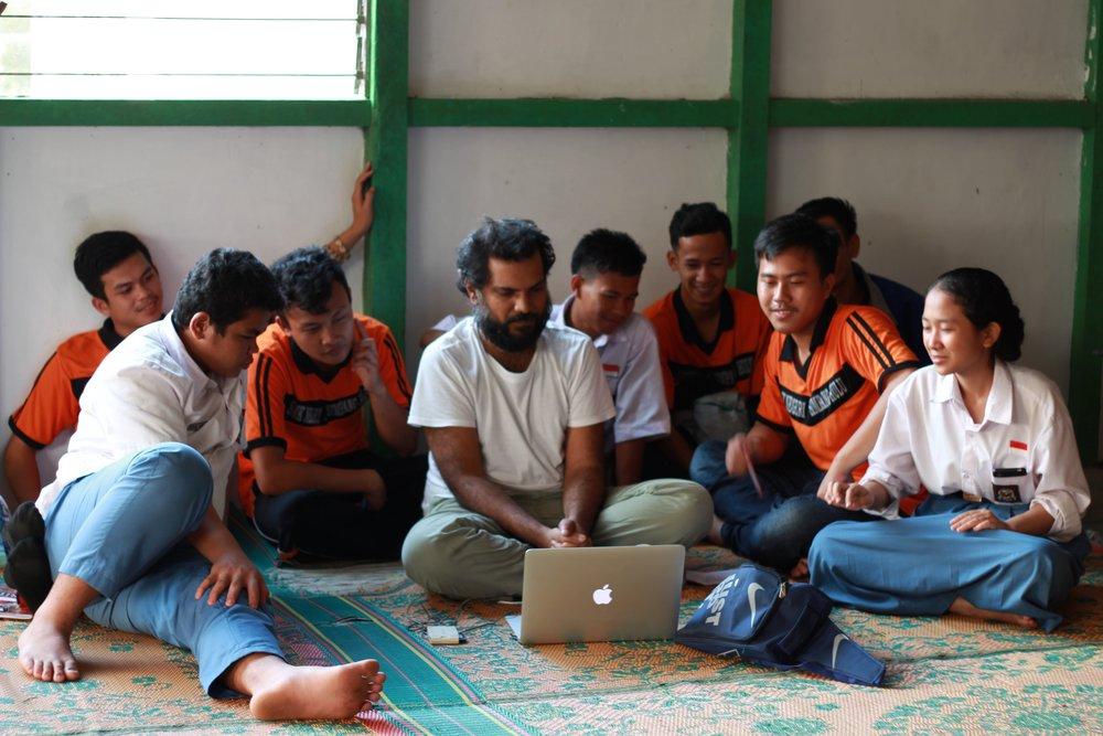 Training local students in Tahak village, Ketapang regency, West Kalimantan