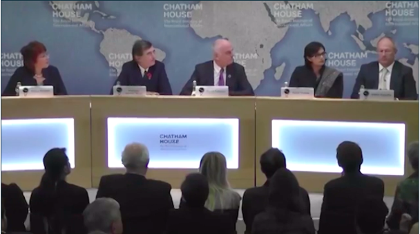 From left to right: Flavia Bustreo, Phillipe Douste-Blazy, David Nabarro, Sania Nishtar and Miklós Szócska