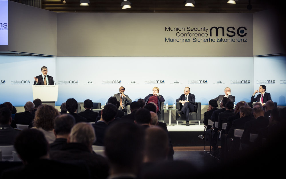 Bill Gates at the Munich Security Conference in February 2017. Courtesy of MSC Foundation.
