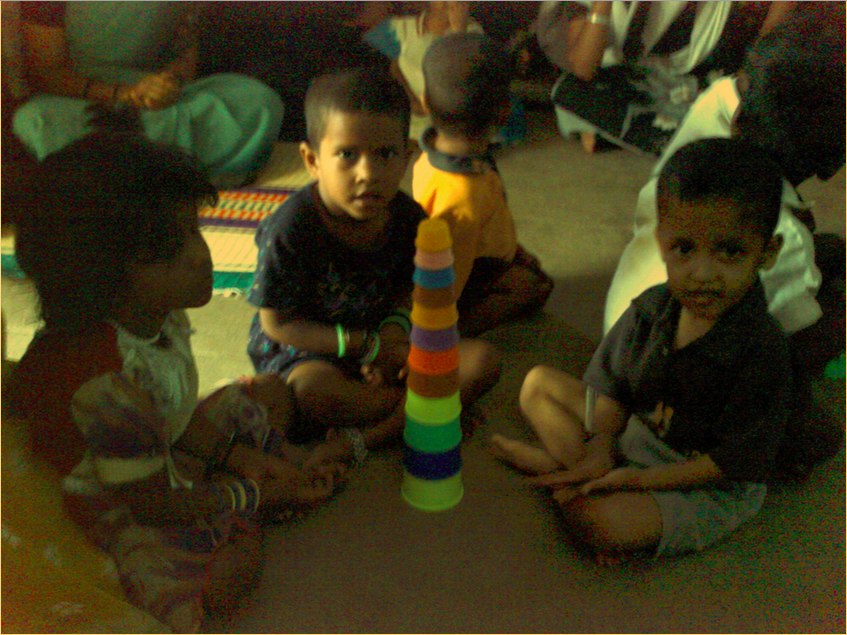 Children playing in a community health centre in South India. Picture by  Devi Sridhar