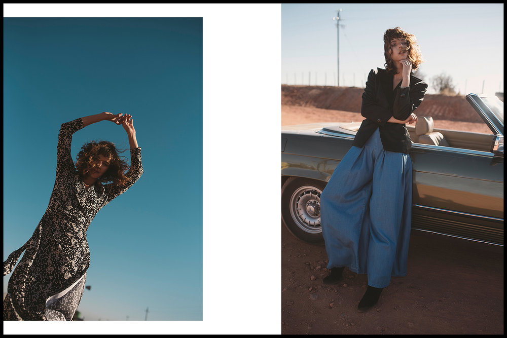 Left: dress, Habits | Right: blazer, Noël of Me by Demet Karatas; culottes, Non-European at The Space