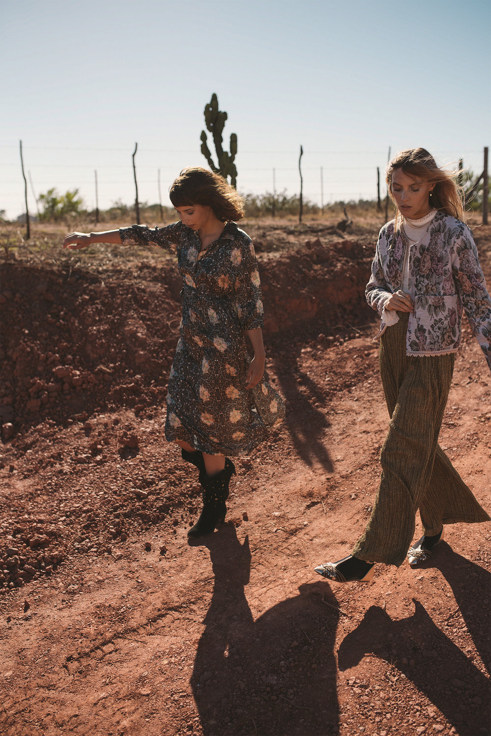 Emma (left) wears: white shirt, H&M; jacket, Babette; trousers, Zara; Francesca (right) wears: dress, Amanda Laird Cherry at The Space