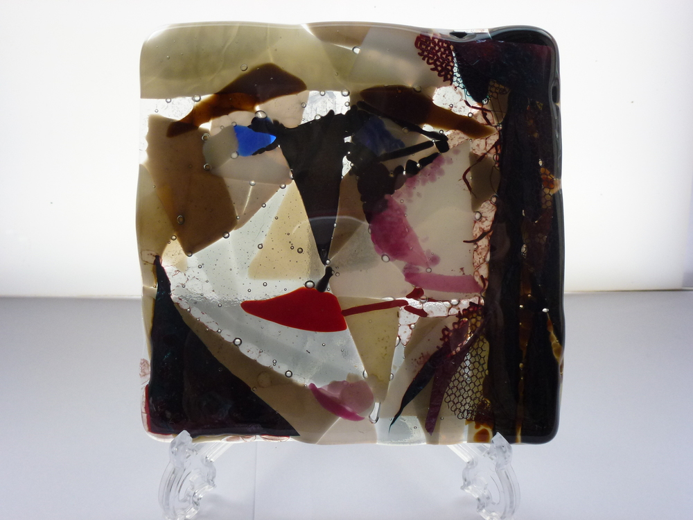 Influences Picasso – Kiln Fused Glass by Jeanette Cook